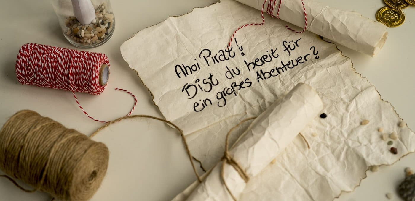 Piratengeburtstag Einladung Schatzkarte Idee