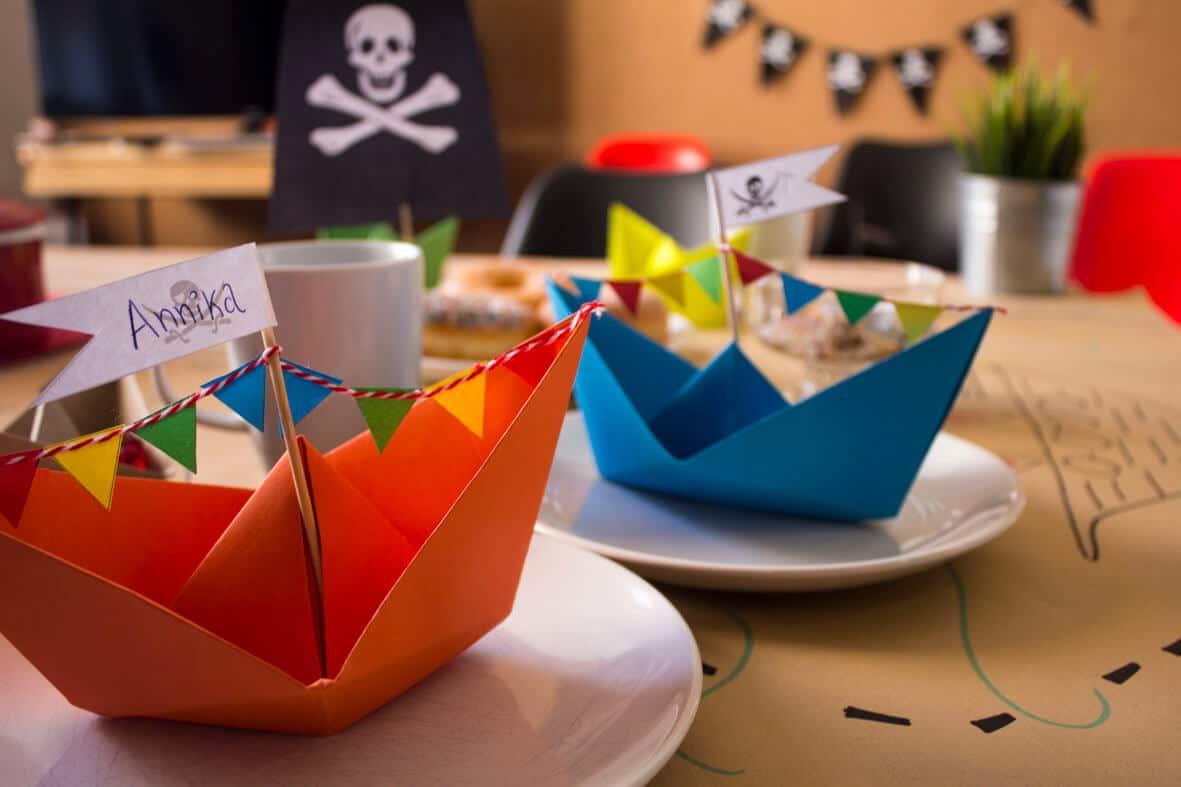 Piratengeburtstag_Basteln_Deko_Papierschiff