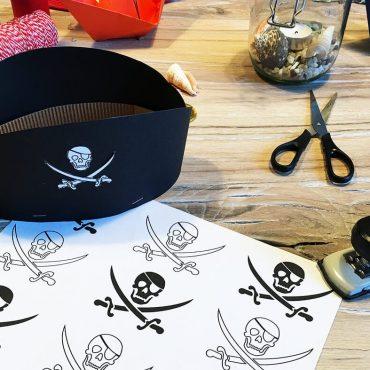 Piratengeburtstag Piratenhut Basteln Anleitung