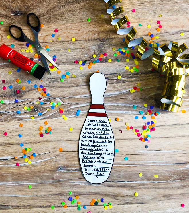 Bowling-Kindergeburtstag-Einladung-Bowlingpin-Vorlage