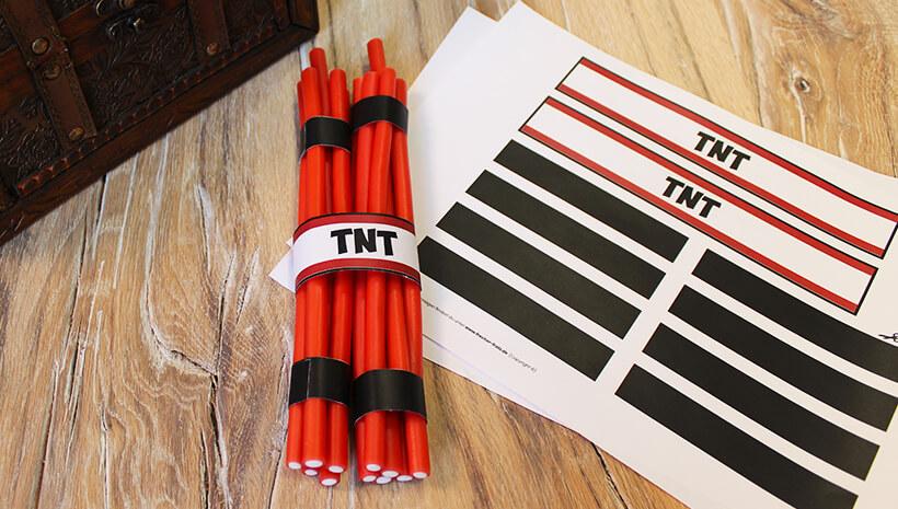Detektiv-Kindergeburtstag-TNT-Banderole