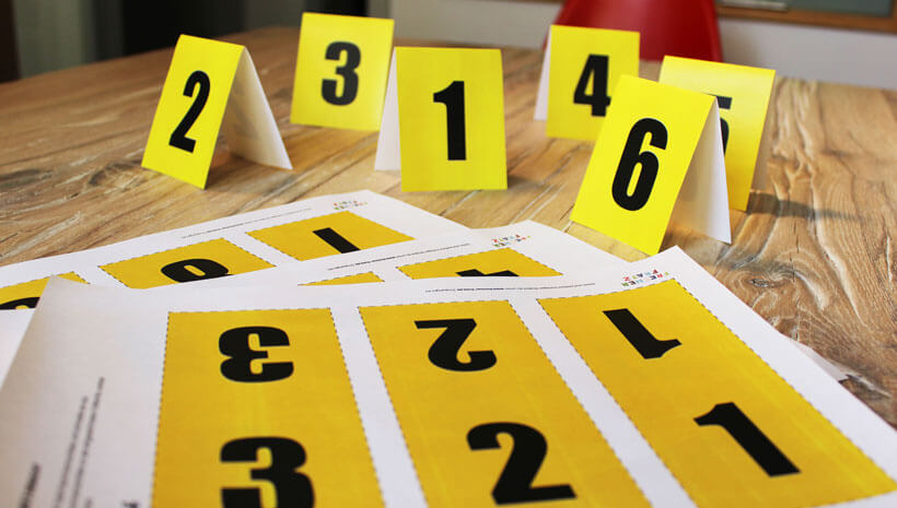 Detektiv-Kindergeburtstag-Tatortnummern-basteln