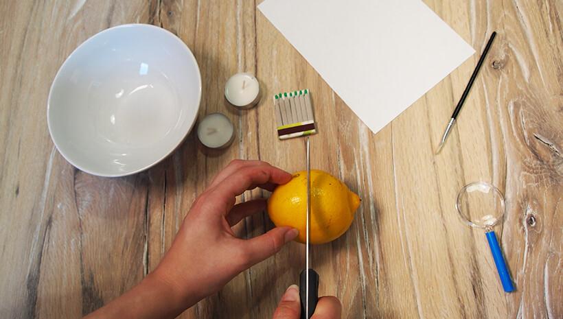 Detektiv-Kindergeburtstag-Zitronensaft-Geheimschrift-Schritt2