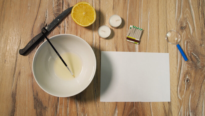 Detektiv-Kindergeburtstag-Zitronensaft-Geheimschrift-Schritt3