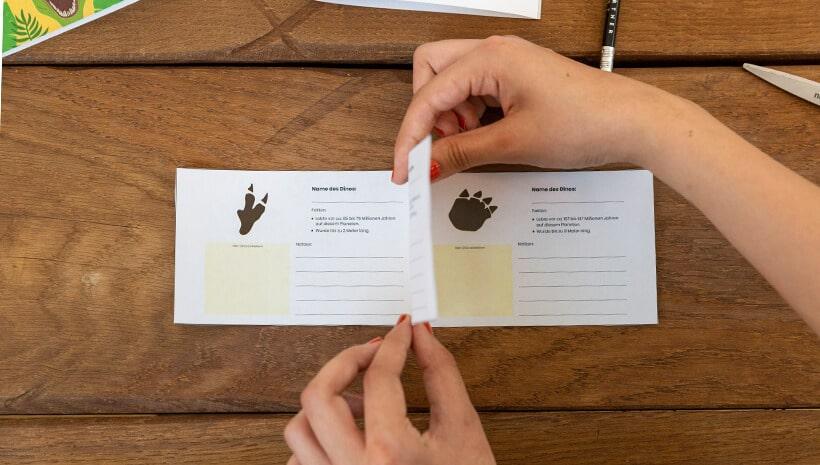 Dino-Kindergeburtstag-Forscherbuch-basteln-Inhaltsseiten