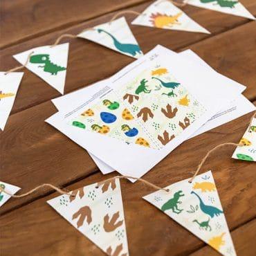 Dino-Kindergeburtstag_Wimpelkette