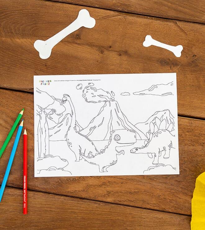 Dino_Kindergeburtstag_Ausmalbild