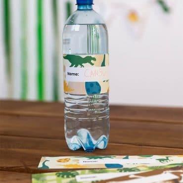 Dino_Kindergeburtstag_Flaschenbanderole