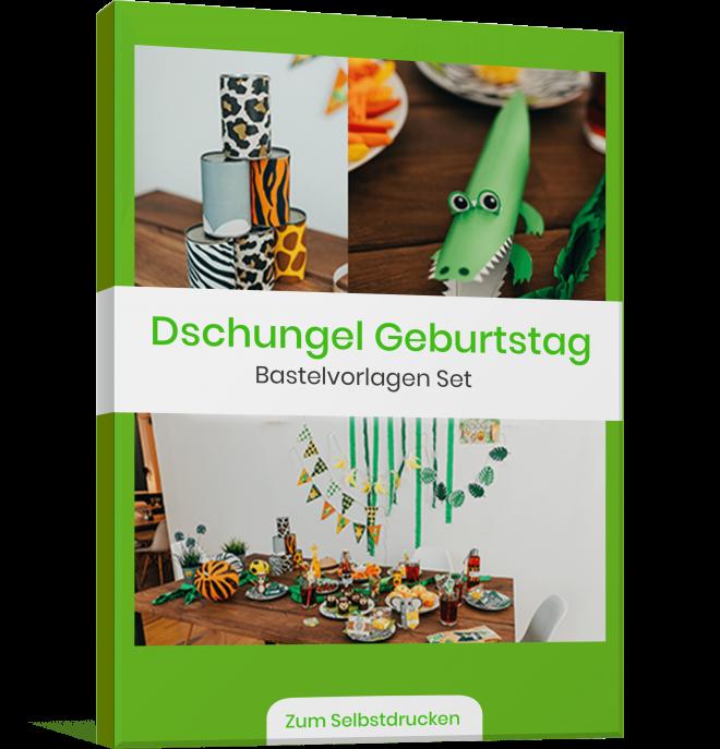 Dschungel Kindergeburstag Vorlagenbundle Druckvorlage