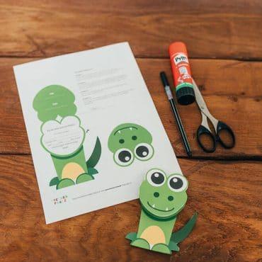 Dschungel-Kindergeburtstag-Alligatoreinladung-Dschungelgeburtstag