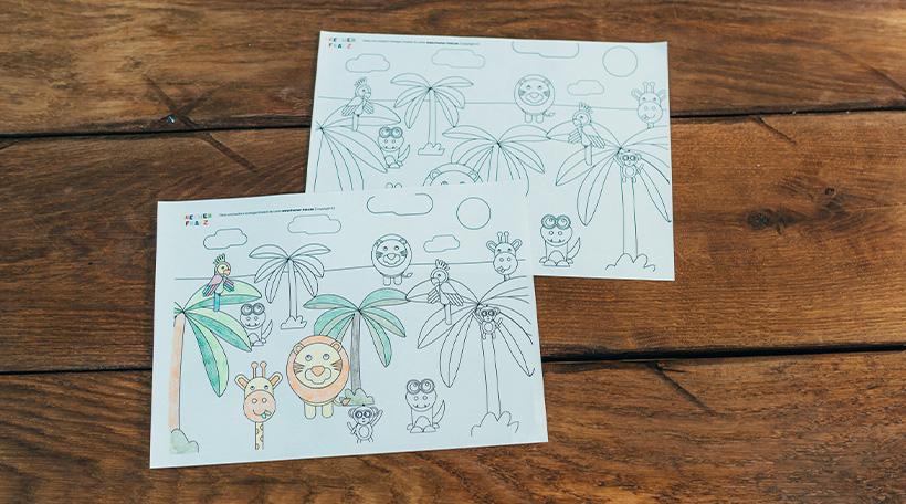 Dschungel-Kindergeburtstag-Ausmalbild-Dschungelgeburtstag-Malvorlage