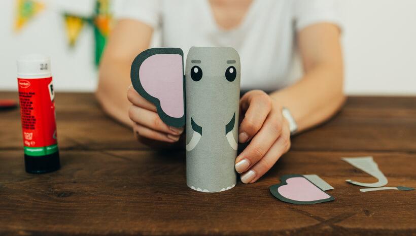 Dschungel-Kindergeburtstag-Bastelidee-Elefant