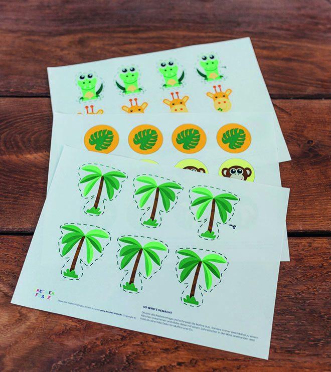 Dschungel-Kindergeburtstag-Dekopicker-Dschungelgeburtstag