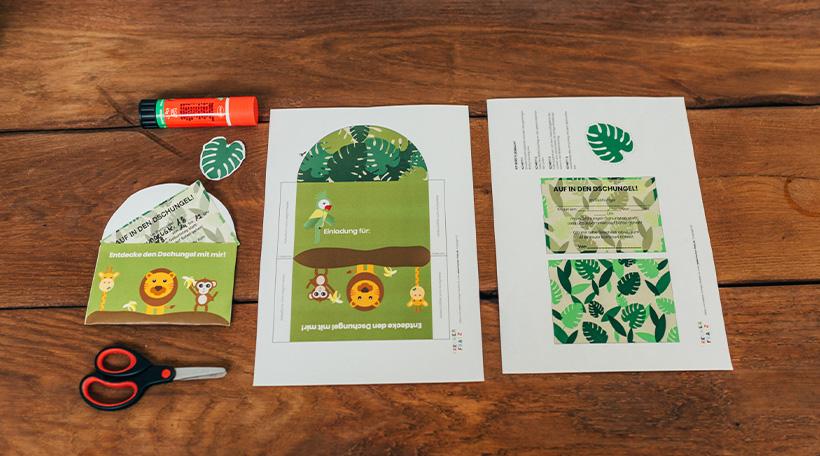 Dschungel-Kindergeburtstag-Einladung-Kuvert-Brief
