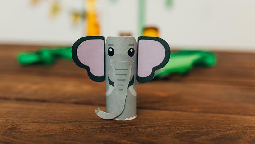 Dschungel-Kindergeburtstag-Elefant-basteln