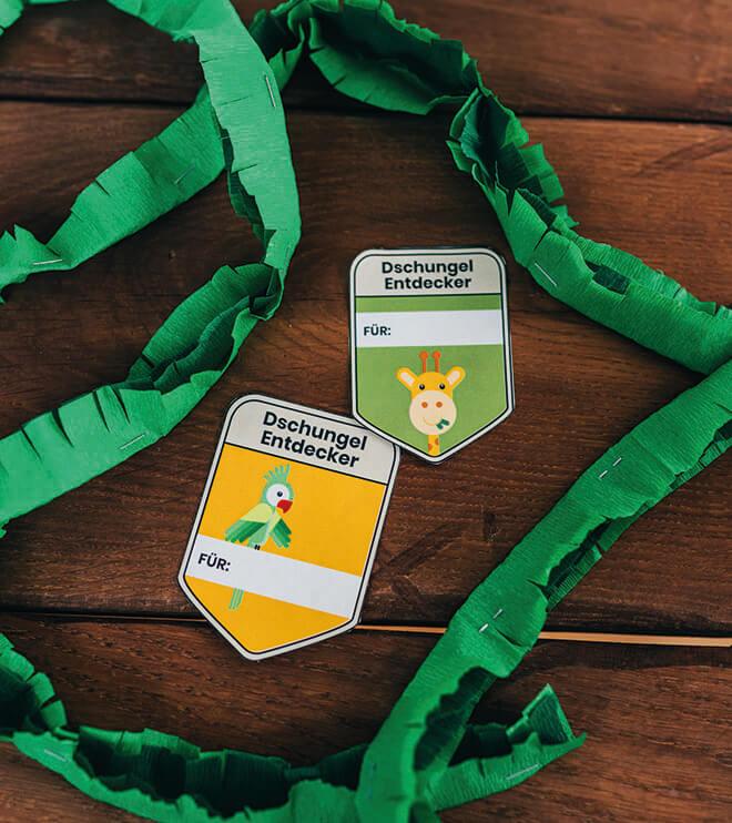 Dschungel-Kindergeburtstag-Entdeckerausweise-Dschungelgeburtstag