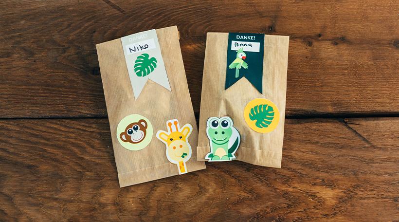 Dschungel-Kindergeburtstag-Mitgebseletiketten-Dankeetiketten-Giraffe-Dekopicker