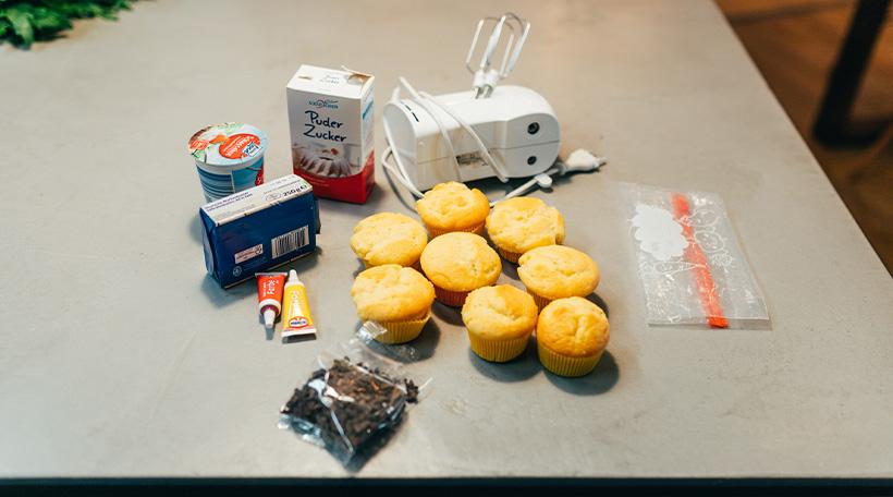 Dschungel-Kindergeburtstag-Muffins-Loewe-Frosting-Cupcake