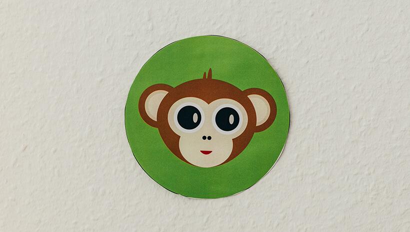 Dschungel-Kindergeburtstag-Schatzsuche-Affe-Hinweis