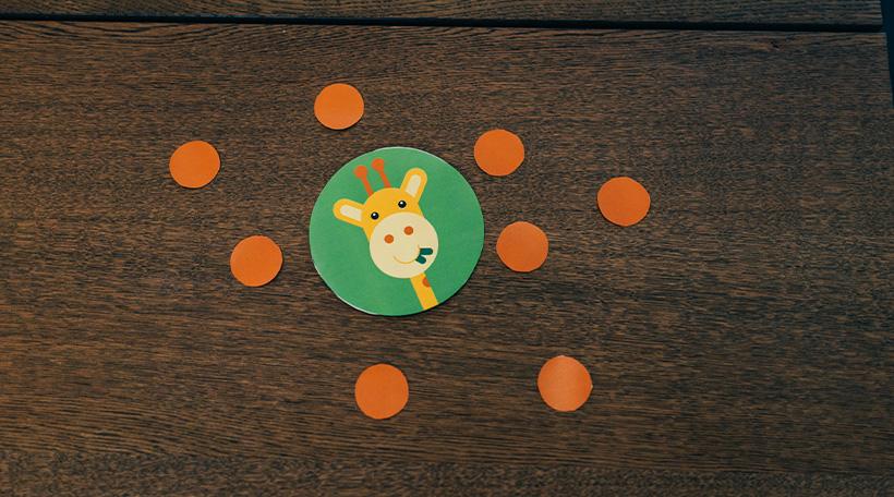 Dschungel-Kindergeburtstag-Schatzsuche-Kinder-Giraffe-Hinweis-Schatz