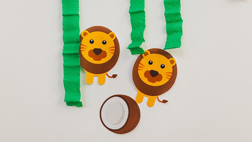 Dschungel-Kindergeburtstag-Tier-Schatzsuche