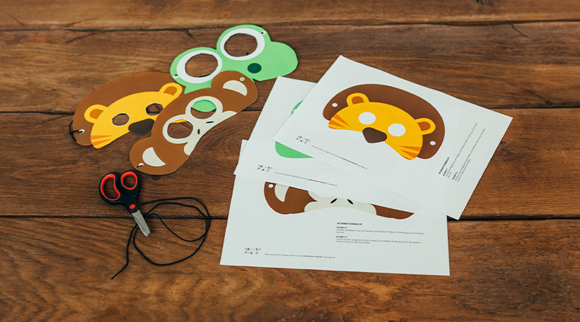 Dschungel-Kindergeburtstag-Tiermasken-Kostuem-Vorlage-Anleitung-Druckvorlage