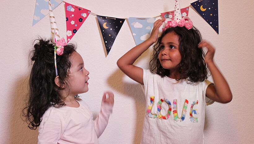 Einhorn-Kindergeburtstag-Einhorn-Haarreif-Kinder