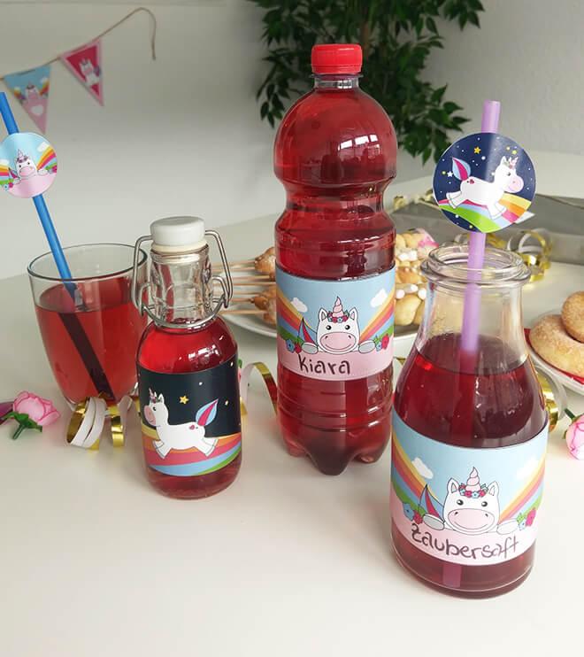 Einhorn-Kindergeburtstag-Flaschenbanderole_Shop