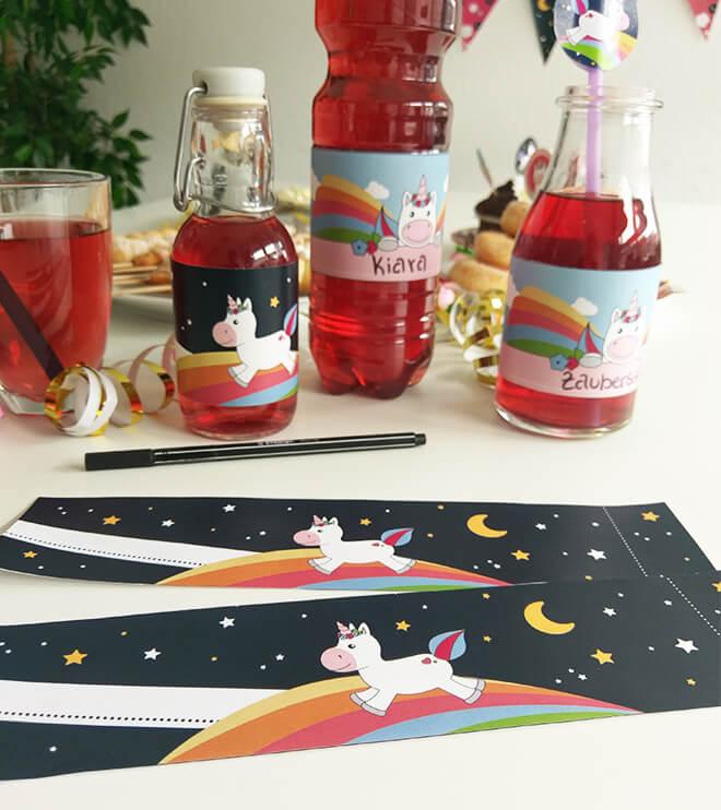 Einhorn-Kindergeburtstag-Flaschenbanderole_Shop2
