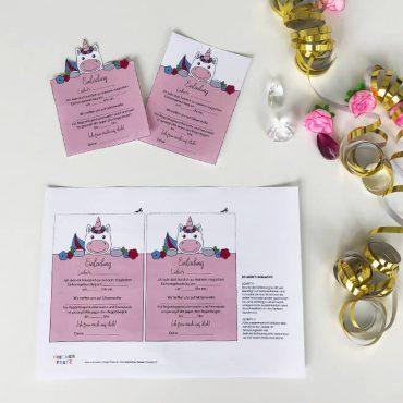 Einhorn-Kindergeburtstag-Postkarte-Shop