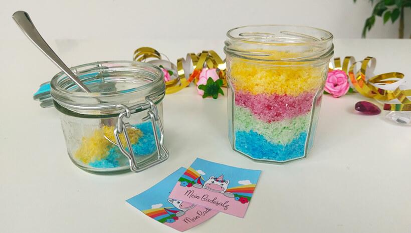Einhorn-Kindergeburtstag-Regenbogen-Badesalz