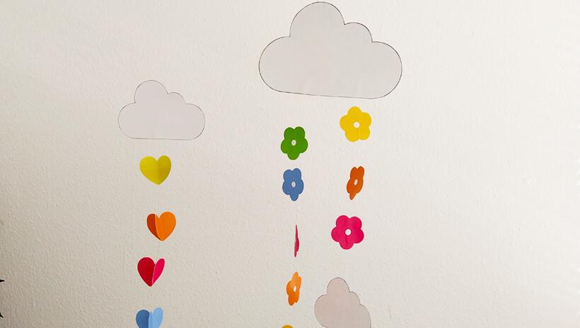 Einhorn-Kindergeburtstag-Regenbogenmobile