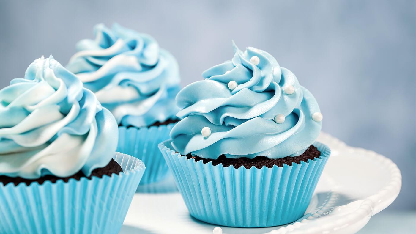 Eiskoenigin Kindergeburtstag Rezepte Frozen Cupcakes