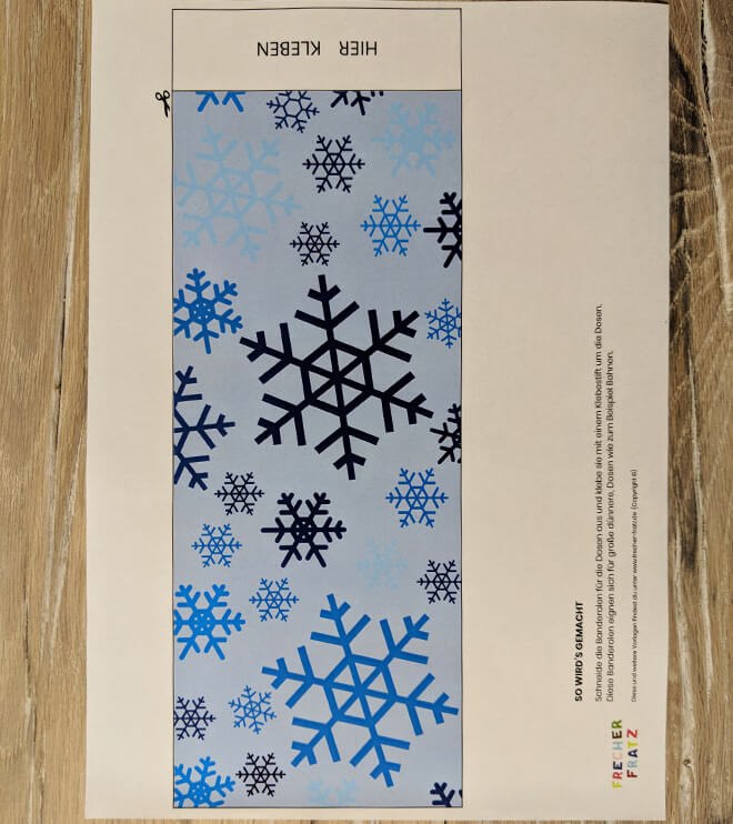 Eiskoenigin Kindergeburtstag Dosenwerfen Bastelvorlage Schneeflocke