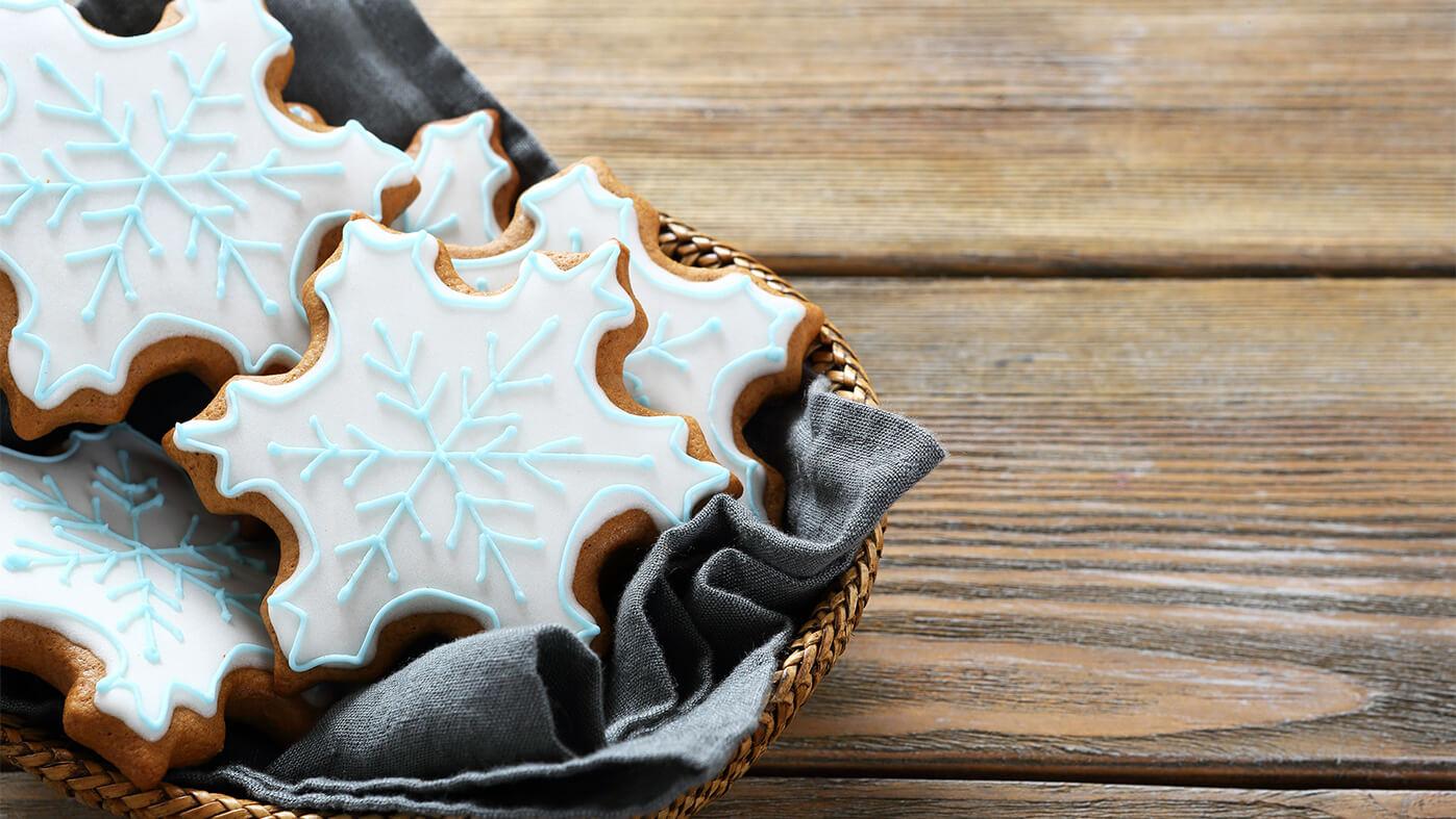 Eiskoenigin Kindergeburtstag Rezepte Schneeflockenkekse