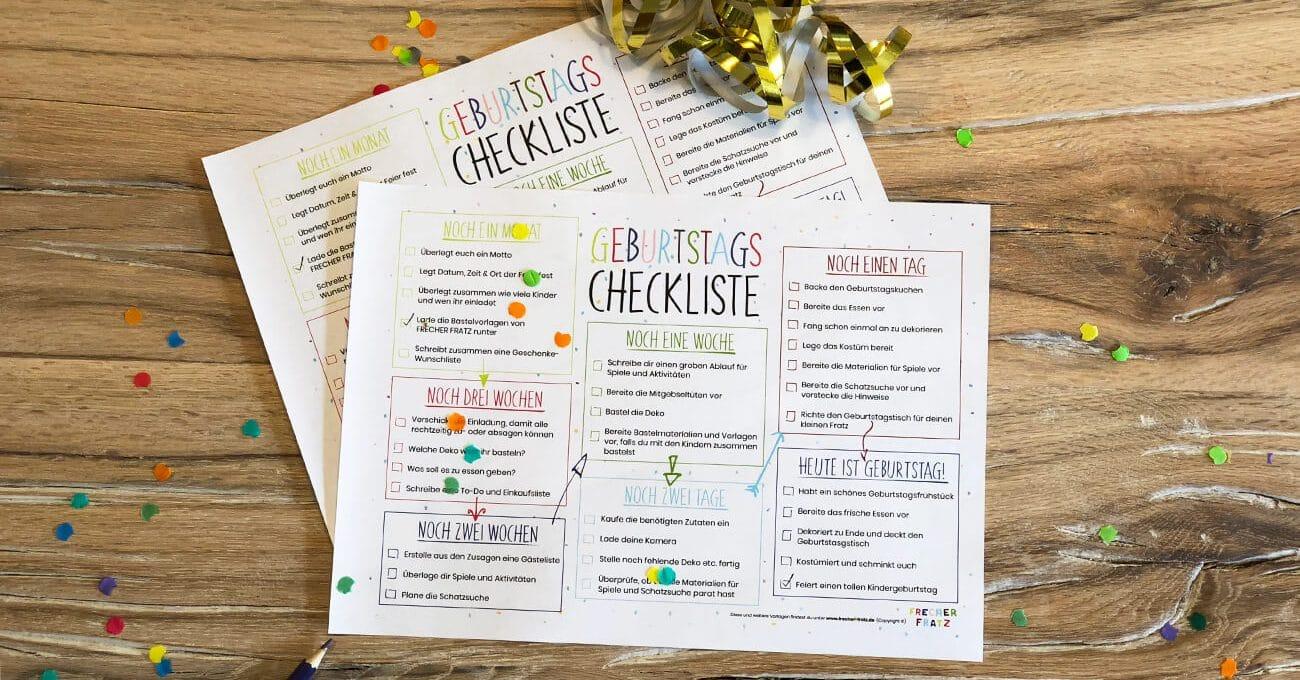 FF-Kindergeburtstags-Checkliste