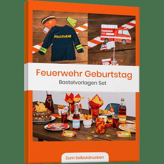 Feuerwehr Kindergeburstag Vorlagenbundle