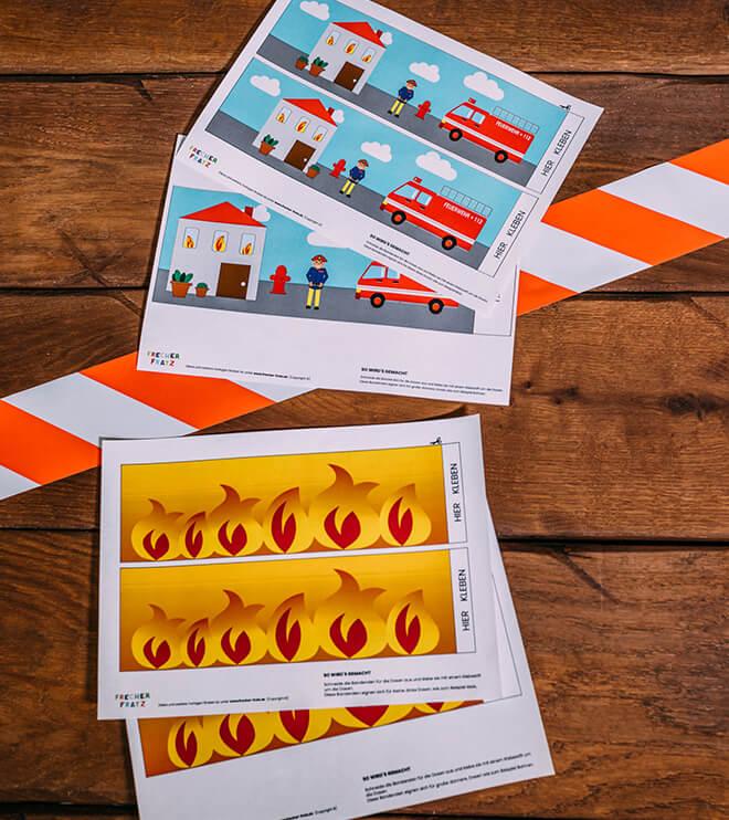 Feuerwehr-Kindergeburtstag-Dosenbanderolen-Vorlage