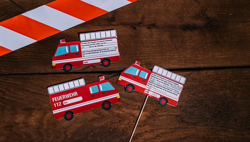Feuerwehr-Kindergeburtstag-Einladung-Feuerwehrauto-basteln