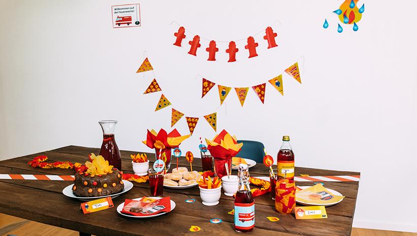 Feuerwehr-Kindergeburtstag-Feuerwehr-Deko-Ideen