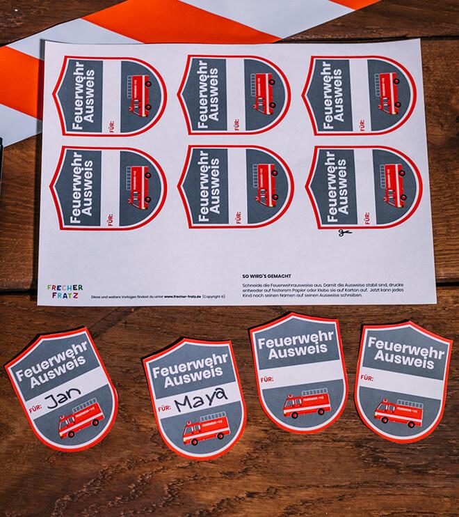 Feuerwehr-Kindergeburtstag-Feuerwehrausweis