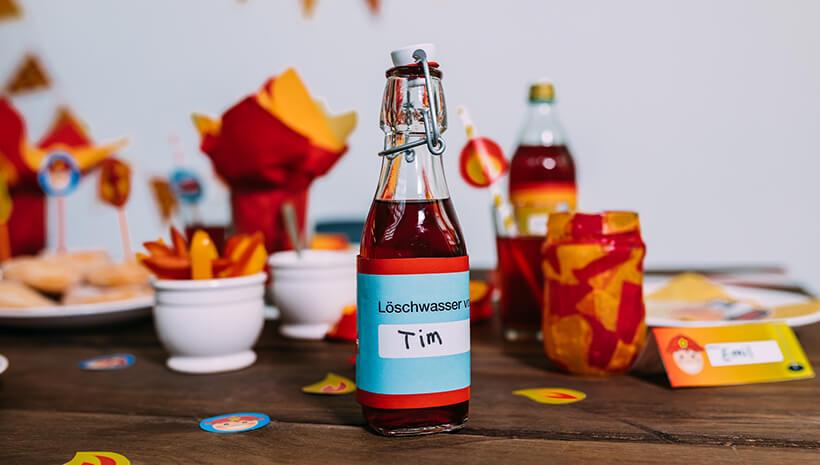 Feuerwehr-Kindergeburtstag-Flaschenbanderole