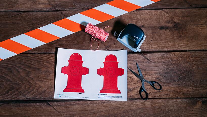 Feuerwehr-Kindergeburtstag-Hydrantengirlande-Vorlage