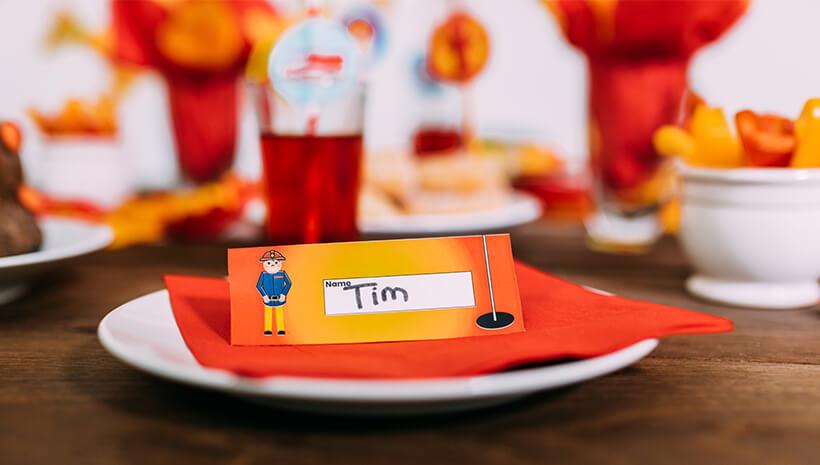 Feuerwehr-Kindergeburtstag-Tischdeko-Namensschild