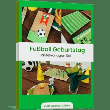 Fussball Bastelvorlagen Set