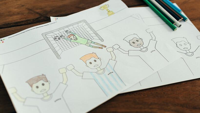 Fussball-Kindergeburtstag-Ausmalbild-Bastelvorlage-Geburtstag