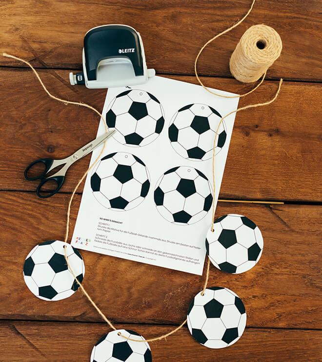 Fussball Kindergeburtstag Bastelvorlage Motivgirlande