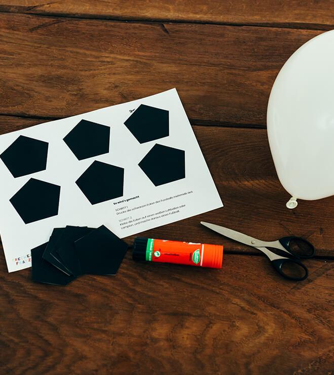 Fussball Kindergeburtstag Bastelvorlage Fussballecken