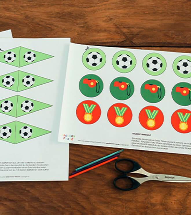 Fussball Kindergeburtstag Bastelvorlage Dekopicker