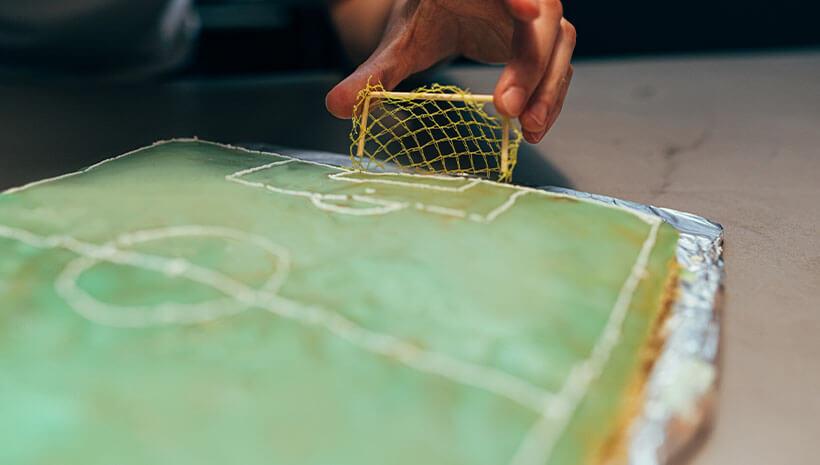 Einfacher Fussballkuchen Fur Die Fussballparty Frecher Fratz